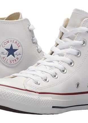 Оригинал - кожаные кеды converse chuck taylor all star - стелька 25,5 см