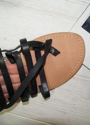 Esprit! кожа! стильные гладиаторы, сандалии, босоножки2 фото