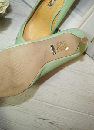 Buffalo! кожа! красивые туфли на устойчивом каблуке3 фото