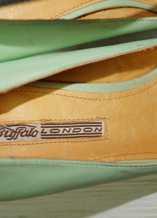 Buffalo! кожа! красивые туфли на устойчивом каблуке4 фото