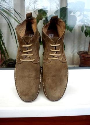 """Замшевые стильные и прочные ботинки """"river island"""", англия, оригинал, 44 р.!"""