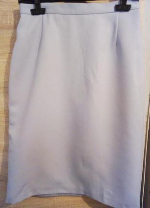 Лавандовая стильная шерстяная юбка от marks & spencer 10-12 pp.