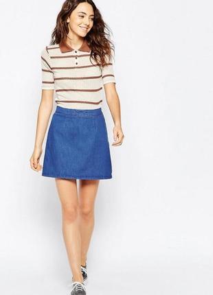Крутая стильная джинсовая юбка карандаш