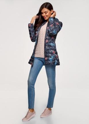 Весенняя куртка oodji с цветочным принтом
