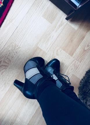 Ботильоны полусопожки сапоги ботинки 35р zara
