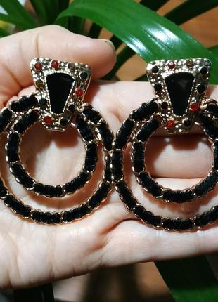 Сережки в винтажном в стиле zara стиле круглые серьги
