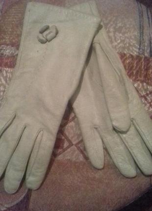 Перчатки с натуральной кожи