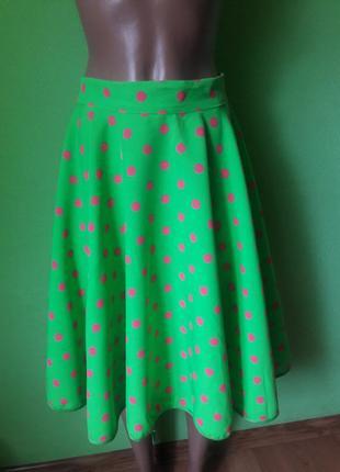 Яркая юбка солнце размер m- xl