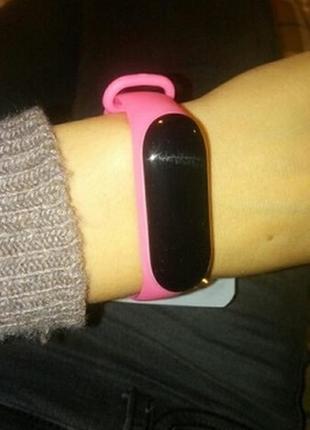 Ремешок фитнес браслет xiaomi mi band 3 mi band 4 розовый
