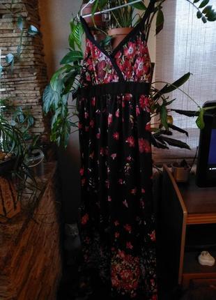 Длинный шифоновый сарвфан , платье george.