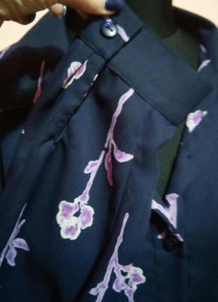 Красивая шифоновая удлиненная блуза рубашка большого раз.24/263 фото