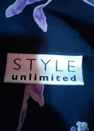 Красивая шифоновая удлиненная блуза рубашка большого раз.24/264 фото