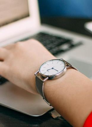 Стильные женские наручные часы - geneva steel silver