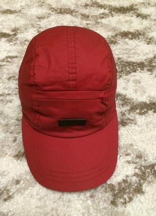 Фирменная мужская кепка mexx из натуральной ткани,красная бейсболка