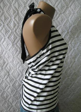 Last summer sale!!! стильная полосатая маечка с открытой спинкой от oasis