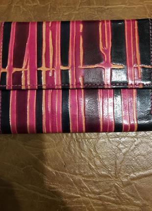 Оригинальный женский яркий кошелек из натуральной кожи индия