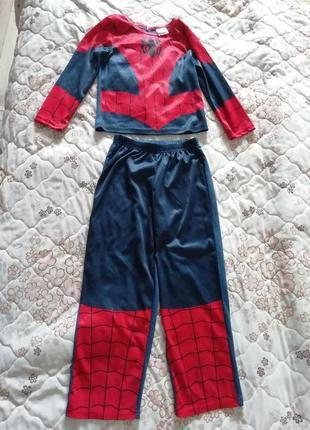Карнавальный новогодний  костюм чел-паук,спайдермен супермен на 5-6лет