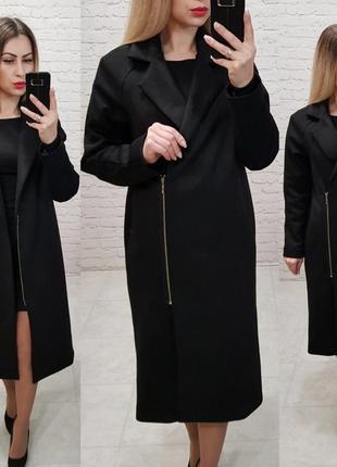 Чёрное замшевое пальто косуха весна 2019 новое длинное качественное
