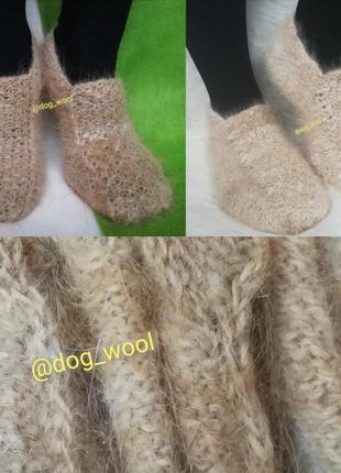 Теплющие следки собачья шерсть носки шерстяные теплые зимние