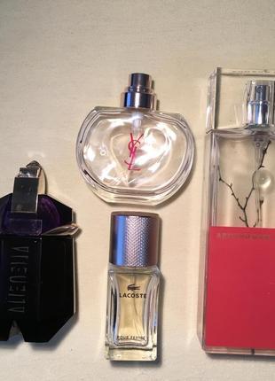 Все парфюмы одним лотом: armand basi, lacoste, thierry mugler alien, ysl