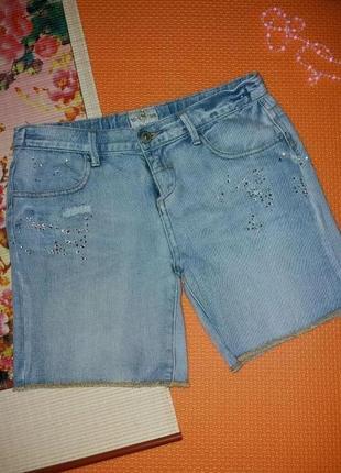 Стильные брендовые джинсовые шорты 9-10л river island