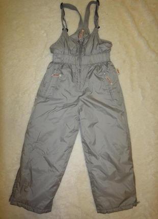 Зимний теплый лыжный комбинезон брюки полукомбинезон only р. 128 -7лет