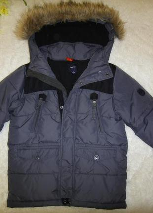 Зимняя очень теплая и легкая куртка gap kids р.128 на синтепоне и флис