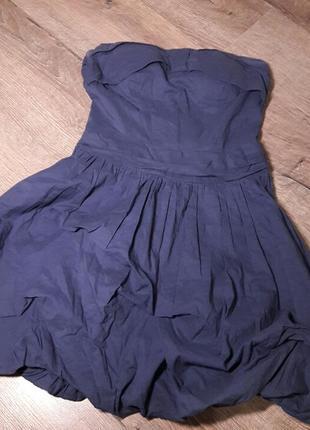 Платье бандо со вставками в лифе