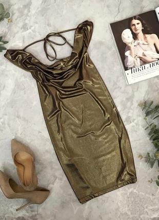 Коктейльное платье оригинального кроя  dr1905122  ginatricot
