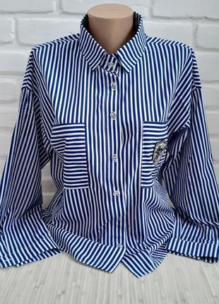 Рубашка в полоску#молодежная рубашка