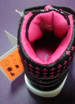 Ботинки 21 р. boyang на девочку, кеды, высокие, кроссовки, спортивные, хайтопы4