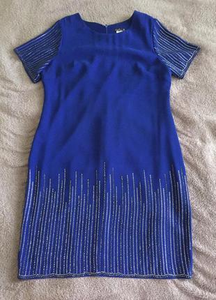 Вечернее нарядное платье со стразами