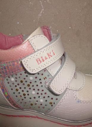 Демисезонные ботинки 26 р. bi&ki на девочку, осенние, весенние, би-ки, осінь, весна