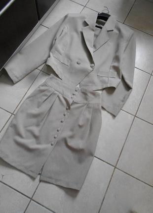 #винтажный костюм m\l #yendi# made in france#юбка и жакет #