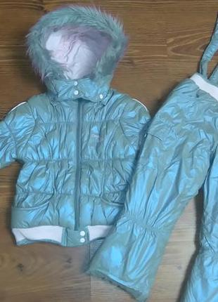Зимний комплект набор костюм сoccobello(курточка и полукомбинезон)
