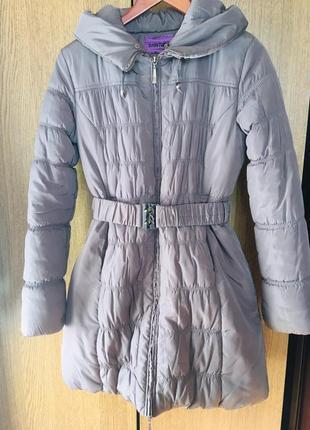 Тёплое зимнее пальто (пуховик)