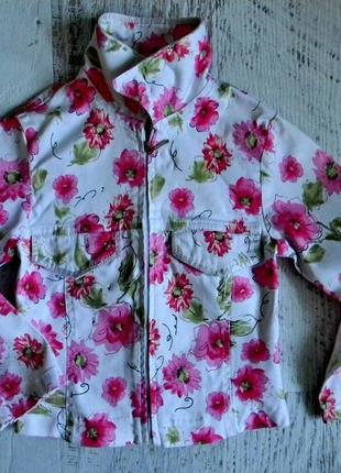 Яркий стильный пиджак 3-4года