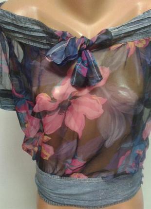 Шифоновая блуза 34-36р