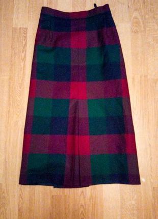Шерстяная юбка миди британская