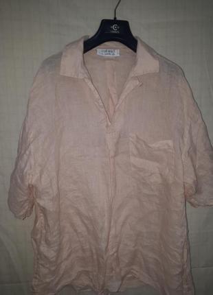 Шикарная льняная рубаха италия cabirio by paolo gi.