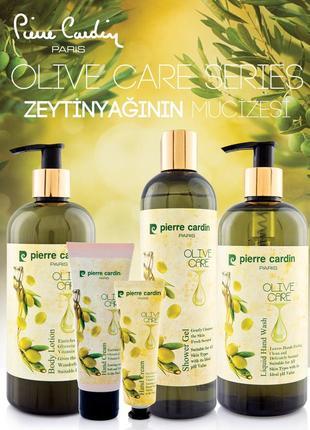 Набор - крем для тела и жидкое мыло олива