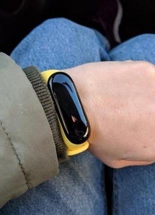 Ремешок фитнес-браслет xiaomi mi band 3 желтый