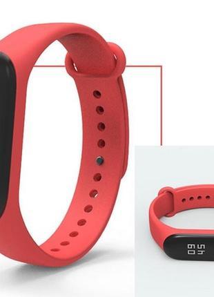 Ремешок фитнес-браслет xiaomi mi band 3 красный