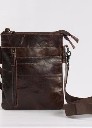 Мужская кожаная сумка-мессенджер