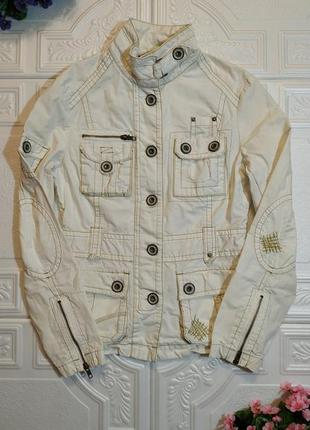 Котоновая тонкая куртка-пиджак next, размер 10 (m)