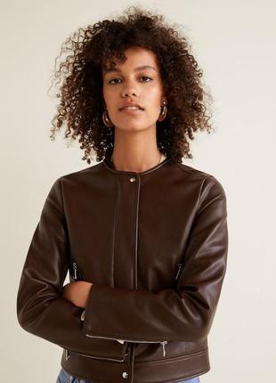 Байкерская куртка mango на молнии размер s