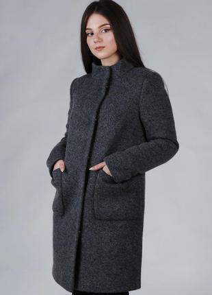 Весеннее женское пальто шерстяное
