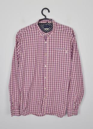 Paul smith size m мужская рубашка в клетку клетчатая пол смит