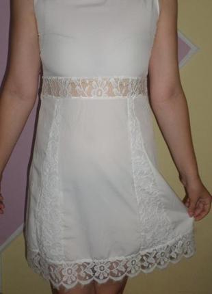 Красивое ажурное, гипюровое, атласное летнее платье без рукавов