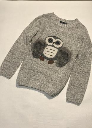 Красивый свитерок с совой